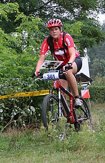 Christine Schaffner Swiss mountain bike orienteer