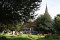 Church of St Mary and St Christopher, Panfield - churchyard northwest.jpg