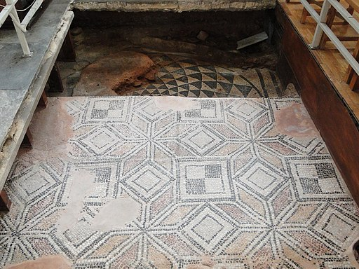 Church of the Acheiropoietos roman era floor