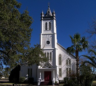 National Register of Historic Places listings in Austin County, Texas - Image: Church of the guardian angel 2008