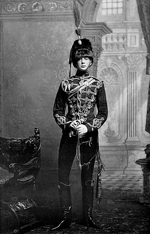 Winston Churchill as writer - Churchill, age 21, as a cornet in the 4th Queens Own Hussars in 1895