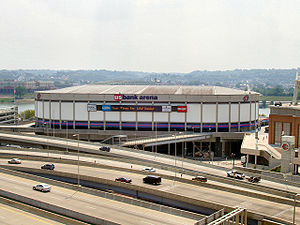 U.S. Bank Arena - Exterior view in 2005