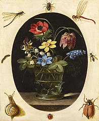Still Life with Flowers Surrounded by Insects and a Snail