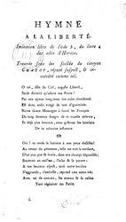 Hymne à la liberté