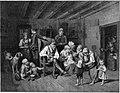Claude Thielley (1811-1891), Großvaters Wiegenfest, Lithographie nach Waldmüller, D2271-4.jpg