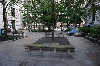 Cleveland Public Library - The main library's Eastman Reading Garden