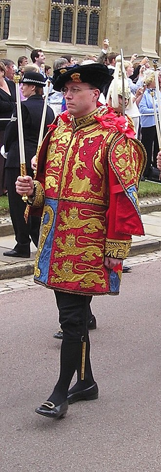 Clive Cheesman - Cheesman at the 2006 Garter Service, wearing his ceremonial tabard