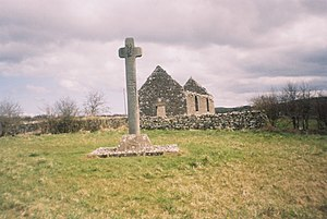 High cross - A simpler example, Culdaff, County Donegal, Ireland