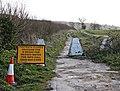 Closed footpath - geograph.org.uk - 742912.jpg