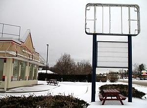 A closed restaurant in Canada.