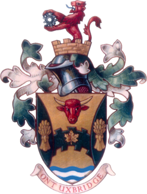 Uxbridge, Ontario - Image: Coat of arms of Uxbridge, Ontario
