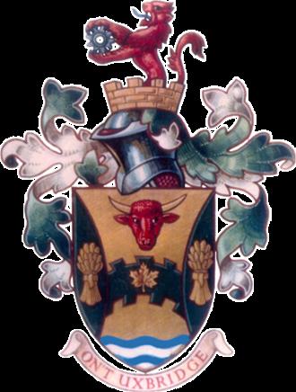 Uxbridge, Ontario - Image: Coat of arms of Uxbridge, Ontario