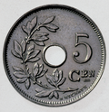 Coin BE 5c Albert I rev NL 45.png