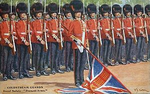 Coldstream Guards, målning av W. B. Wollen