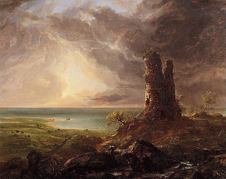 File:Cole Thomas Romantic Landscape with Ruined Tower 1832-36.jpg