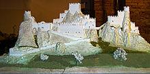 Макет оригинального замка Pietrarossa, Caltanissetta, Сицилия