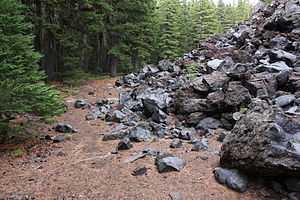 Basaltic andesite - Basaltic andesite in the Cascade Range