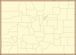 Denvers beliggenhed i Colorado.