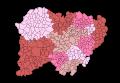 Comarcas de la provincia de Salamanca, Castilla y León, España.SVG
