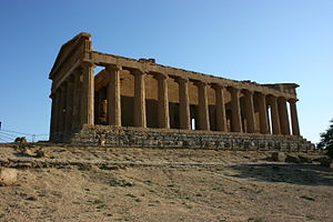 Temple of Concordia, Agrigento - Image: Concordiatempelagrig ent 4