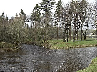 Bowland Forest High - Image: Confluence of the rivers Hodder and Dunsop geograph.org.uk 1183642