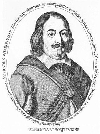Hans Conrad Werdmüller - 17th-century engraving by Conrad Meyer