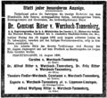 Constant von Wurzbach-Tannenberg Todesanzeige (NFP).png