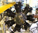 Continental Motors Corporation aircraft engine, view 1 - Hiller Aviation Museum - San Carlos, California - DSC03079.jpg