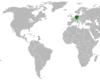 Lage von Deutschland und der Cookinseln