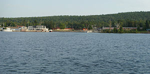 Copper Harbor, Michigan - Copper Harbor as seen from the harbor in 2012