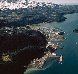 Aerial view of Cordova, Alaska