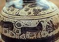 Corinthian pottery Oenochoe, 6th century BC, Korm414x.jpg