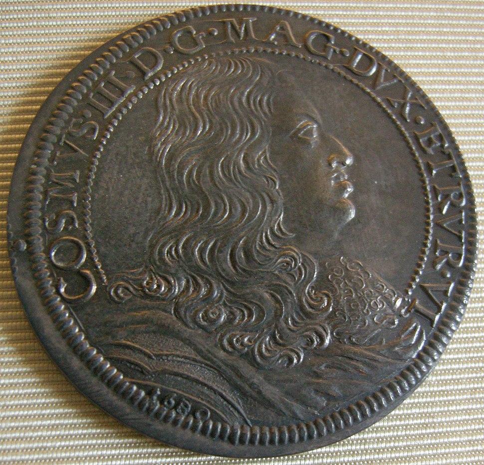 Cosimo III granduke of tuscany coins, 1670-1723, piastra 1680