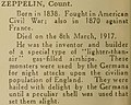 Count Zeppelin entry in- Odhams' A.B.C. of the great war (IA odhamsabcofgreat00colb) (page 238 crop).jpg