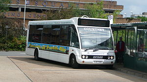 Courtney Buses - Optare Solo Slimline 8.8m converted to run on vegetable oil at Bracknell bus station in June 2010