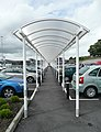 Covered walkway in the Tesco car park, Carmarthen - geograph.org.uk - 944782.jpg