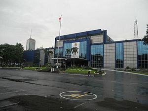 Camp Crame - The facade of the Main Office Building of the Philippine National Police Headquarters at the camp.