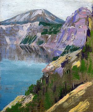 Arthur Wesley Dow - Crater Lake, oil on canvas, 1919