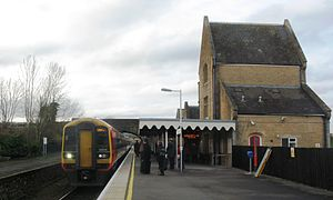Crewkerne railway station - A train to Waterloo