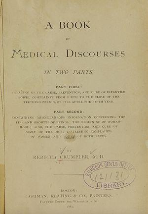Rebecca Lee Crumpler - Crumpler, A Book of Medical Discourses