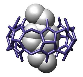 Host–guest chemistry - Image: Cucurbit 6 uril Acta Crystall B Stru 1984 382