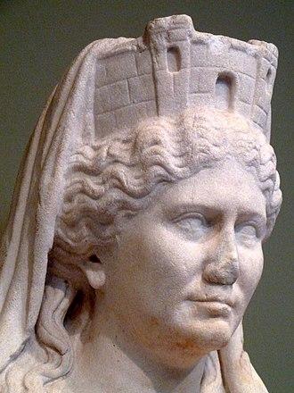 Marcus Valerius Laevinus - Statue of Cybele.