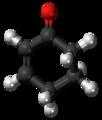Cyclohexenone 3D ball.png