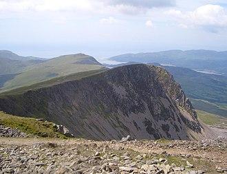 Cyfrwy - Cyfrwy from Cadair Idris with Tyrrau Mawr behind