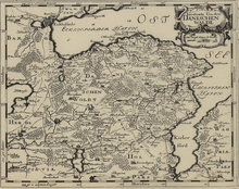 Map of the Danish Wohld by Johannes Mejer, 1652
