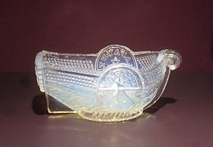 Salt cellar - Open salt dish, pressed glass; Boston and Sandwich Glass Company, 1830–1835.