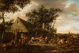Dancing Peasants before an Inn
