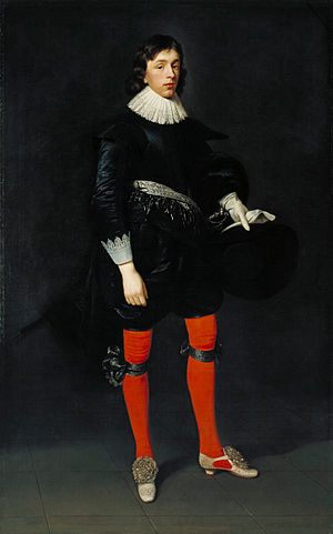 James Hamilton, 1st Duke of Hamilton - Portrait by Daniël Mijtens of James Hamilton, 1st Duke of Hamilton in 1623 (age 17)