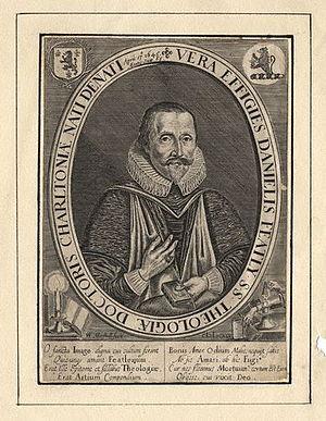 Daniel Featley - Daniel Featley, engraving by William Marshall.