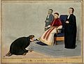 Daniel O'Connell devoutly kisses the foot of Lord John Russe Wellcome V0050235.jpg